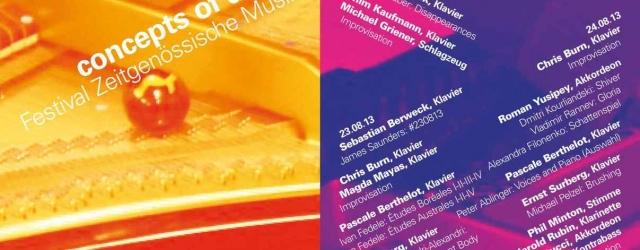 22-24/08/13 • Pascale Berthelot – Festival Zeitgenössische Musik, Berlin