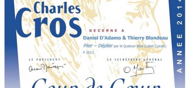 """Coup de Coeur"" de l'Académie Charles Cros"