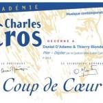 «Coup de Coeur» de l'Académie Charles Cros